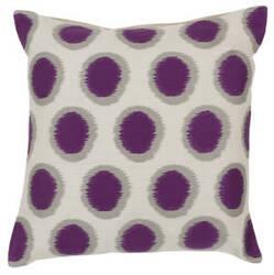 Surya Ikat Dots Pillow Ar-089 Purple