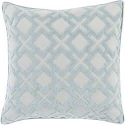 Surya Alexandria Pillow Ax-001 Blue/Silver