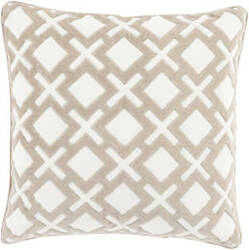 Surya Alexandria Pillow Ax-002 Taupe/Cream