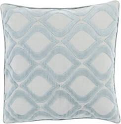 Surya Alexandria Pillow Ax-006 Aqua/Grey