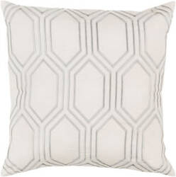 Surya Skyline Pillow Ba-001 Ivory/gray