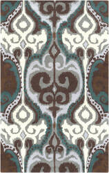 Surya Banshee BAN-3350 Light Gray / Teal Area Rug