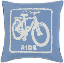 Surya Big Kid Blocks Pillow Bkb-017 Denim