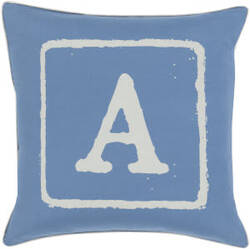 Surya Big Kid Blocks Pillow Bkb-024 Denim