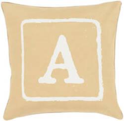 Surya Big Kid Blocks Pillow Bkb-025 Wheat