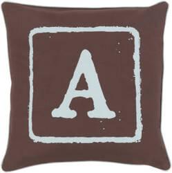 Surya Big Kid Blocks Pillow Bkb-027 Brown/Aqua