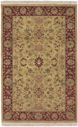 Surya Babylon BL-1902 Gold Burgundy Area Rug