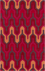 Surya Brentwood BNT-7701 Burnt Orange / Hot Pink Area Rug