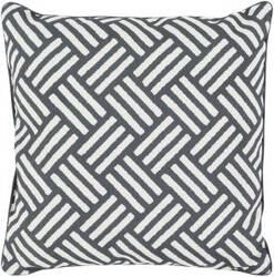 Surya Basketweave Pillow Bw-007 Black