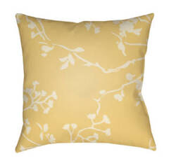 Surya Chinoiserie Floral Pillow Cf-001