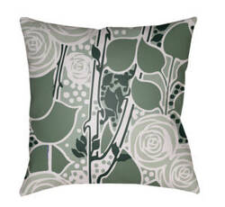 Surya Chinoiserie Floral Pillow Cf-021