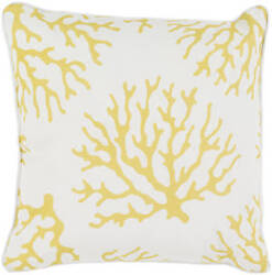 Surya Coral Pillow Co-003 Yellow