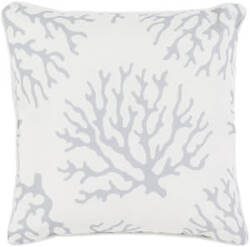 Surya Coral Pillow Co-005 Grey
