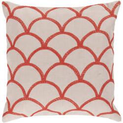 Surya Pillows COM-009 Ivory/Poppy
