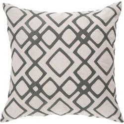 Surya Pillows COM-017 Charcoal/Ivory