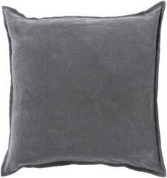 Surya Cotton Velvet Pillow Cv-003 Grey