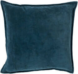 Surya Cotton Velvet Pillow Cv-004 Teal