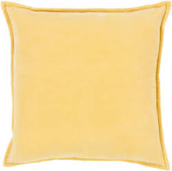 Surya Cotton Velvet Pillow Cv-007 Yellow