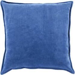 Surya Cotton Velvet Pillow Cv-014 Blue