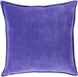 Surya Cotton Velvet Pillow Cv-017 Purple