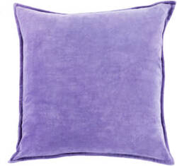 Surya Cotton Velvet Pillow Cv-018 Violet