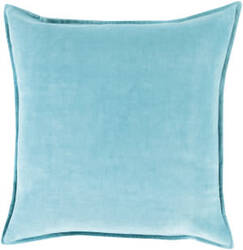 Surya Cotton Velvet Pillow Cv-019 Aqua