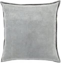 Surya Cotton Velvet Pillow Cv-021 Grey