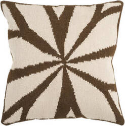 Surya Pillows FA-011 Brown/Ivory