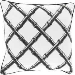 Surya Bamboo Lattice Pillow Fbb-003 Charcoal