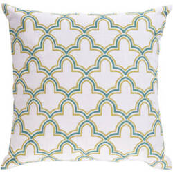 Surya Pillows FF-023 Teal/Lime