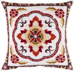 Surya Botanical Pillow Ff-025 Red/Brown