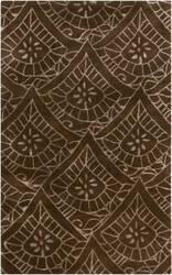 Surya Henna HEN-1004 Chocolate Area Rug
