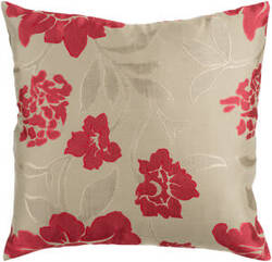 Surya Blossom Pillow Hh-047 Red