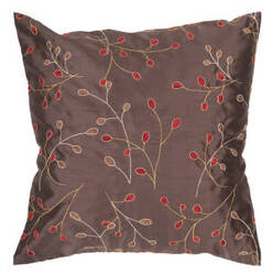 Surya Blossom Pillow Hh-094 Brown
