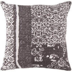 Surya Pillows HSK-119 Charcoal/Ivory