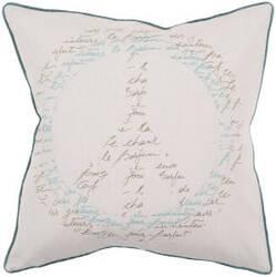 Surya Pillows JS-050 Beige/Teal