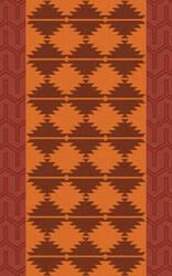 Surya Jewel Tone Ii JTII-2070 Burnt Orange Area Rug