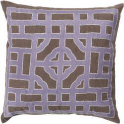 Surya Chinese Gate Pillow Ld-048 Camel/Mauve