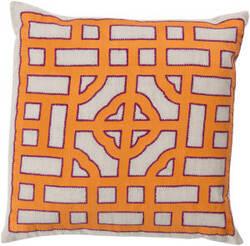Surya Chinese Gate Pillow Ld-051 Orange