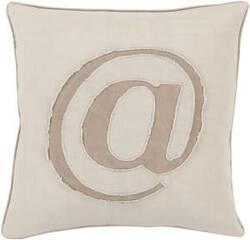Surya Linen Text Pillow Lx-001
