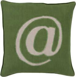 Surya Linen Text Pillow Lx-005
