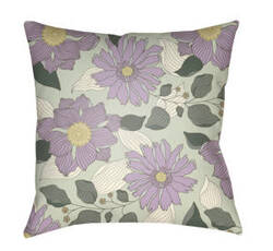 Surya Moody Floral Pillow Mf-029