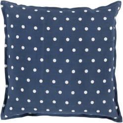 Surya Polka Dot Pillow Pd-009 Navy