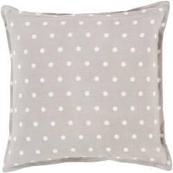 Surya Polka Dot Pillow Pd-010 Light Gray