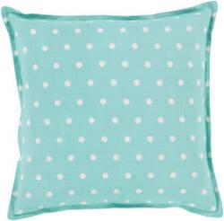 Surya Polka Dot Pillow Pd-011 Teal