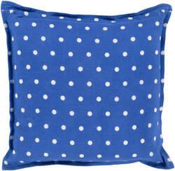 Surya Polka Dot Pillow Pd-012 Cobalt