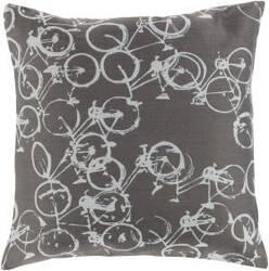 Surya Pedal Power Pillow Pdp-005 Gray