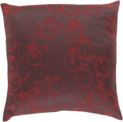 Surya Pedal Power Pillow Pdp-006 Burgundy