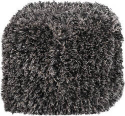 Surya Poufs Pouf-52 Coal Black