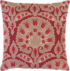 Surya Pillows SI-2001 Poppy/Beige